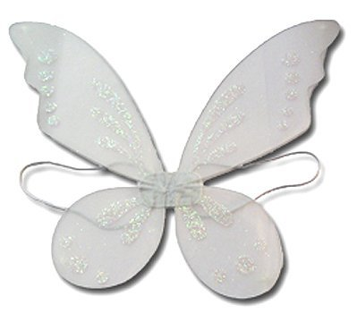 White Pixie Fairy Wings Tinkerbell Princess Tutu Dress Up Costume front-564724