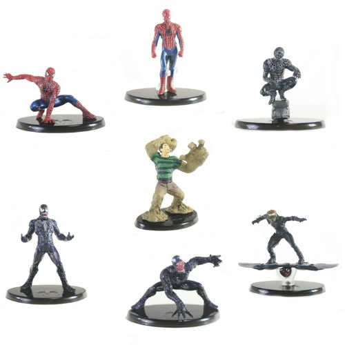 Picture of Bandai Chozoukei Damashii Spiderman 3 Trading Figures - Set of 7 (B0052ZFFW6) (Spider-Man Action Figures)