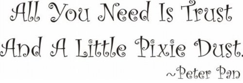 WallstickersUSA Nursery Wall Sticker, All You Need Is Trust And A Little Pixie Dust