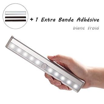 Lampe led avec capteur d 39 infrarouge sans fil id al pour for Comeclairage led pour placard