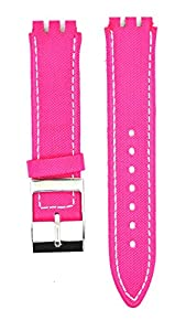 Fit Swatch SWC108 Leather Watch Strap 17mm Pink Similar