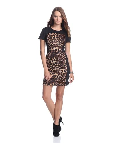 W118 by Walter Baker Women's Corey Sheath Dress  [Leopard/Black]