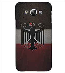 PrintDhaba Eagle Pattern D-5325 Back Case Cover for SAMSUNG GALAXY E7 (Multi-Coloured)