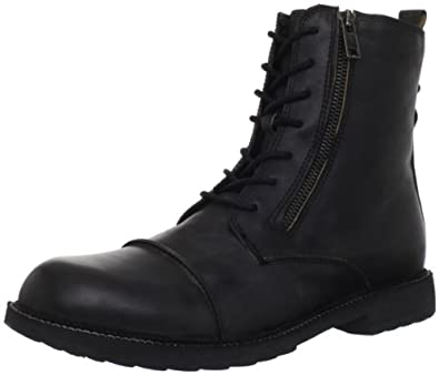 Polar Fox Mens Military Combat Boots Faux Leather Lace Up Shoes 38456eee3bb