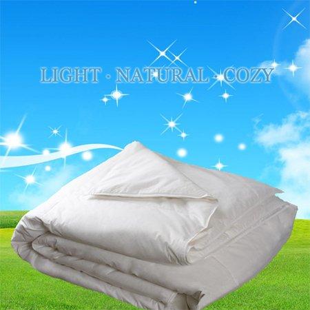 "California/ Cal - Oversized/ Super King 110X100"" Elegance 575 Loft Canada White Down Summer Fill Comforter Blanket, Level 2, 24 Oz-233Tc ""Nipigon"" Collection front-818605"
