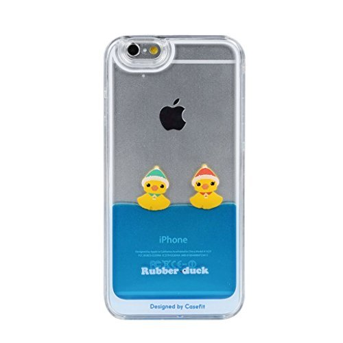 Fast-Jewelry-iPhone-6-6S-CaseLiquid-Floating-Rubber-Duckies-In-Blue-Water-Cute-Hard-Plastic-Case-Fabulous-Glossy-Pattern-for-both-For-Apple-iPhone-6-6S