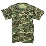 Woodland Camouflage Military Vintage T-Shirt 4777 Size 3X-Large