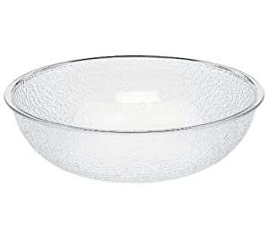 "Cambro PSB15 11.2 qt Capacity, 15"" ID, Camwear Clear Polycarbonate Round Pebbled Bowl"