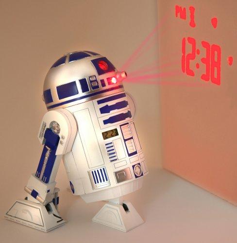 "Star Wars Merchandise - R2D2 LED Alarm Clock (Size: 5"" x 6"")"