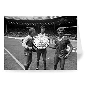 Kenny Dalglish Alan Hansen And Graeme Souness - Greeting Card Pack Of 2 - 7x5 Inch - Art247 - Standard Size - Pack Of 2 by Art247