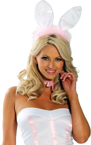 Sexy Adult Women Play Rabbit Easter Bunny Ears Halloween Outfit Accessory