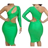 Sexy Club Bodycon Dresses Women New Fashion 2013 Elastic Spandex Green Bandage Dress Ladies Evening Dress Size 6-8