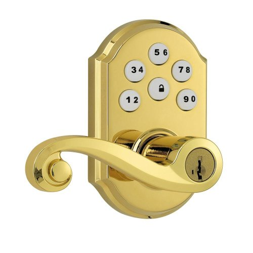 (Zz911Ll Trl L03 Smt Cp) Smartcode Polished Brass Electronic Deadbolt With Lido Lever Featuring Smartkey