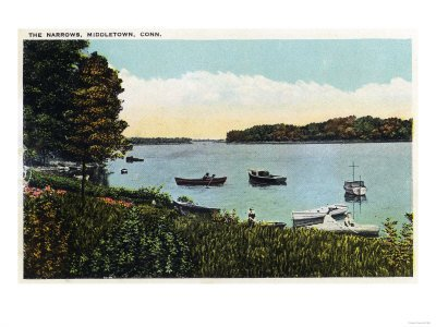 Middletown, Connecticut - View of Boats at the Narrows