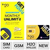 H2O Wireless Unlocked SIM Card - Micro & Standard Size