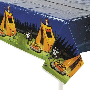 "Camping Camp Adventure Plastic Tablecover - 54"" x 108"""