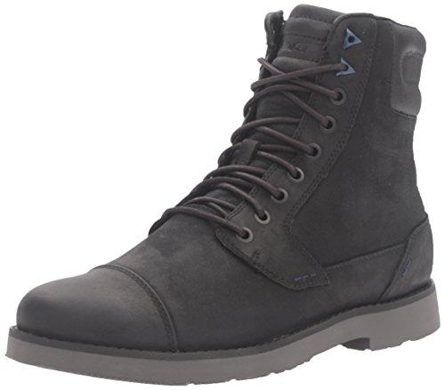Teva Durban Tall-Leather, Stivali da Motociclista Uomo, Nero (Black/Dark Shadow-Bdsdblack/Dark Shadow-Bdsd), 44.5 EU