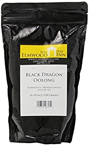 Elmwood Inn Fine Teas, Black Dragon Oolong Tea, 16-Ounce Pouch
