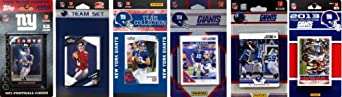 NFL New York Giants 6 Different Licensed Trading Card Team Sets by C&I Collectables