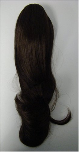 #2 Dark Brown Pro Extensions Kanekalon clip in on ponytail, long lasting life like synthetic fiber looks and feels like real human hair
