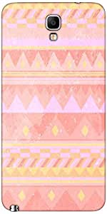 Snoogg Pink Light Aztec Case Cover For Samsung Galaxy Note Iii Neo / Note 3 Neo