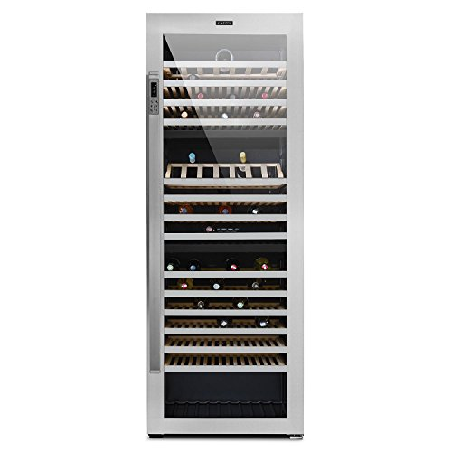 Klarstein-Botella-Trium-Cave--vin-rfrigre-frigo--vin-gastronomie-multi-temprature-3-zones-268-bouteilles-617-litres-acier-inox