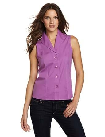 Jones new york women 39 s sleeveless no iron easy care blouse for Jones new york no iron easy care boyfriend shirt