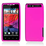 HOT PINK Soft Silicone Gel Skin Case Cover For Motorola Droid Razr Maxx XT913