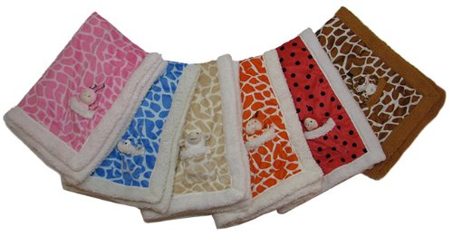 Microfiber Unisex Baby Security Blanket (Orange)