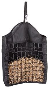 Tough 1 Nylon Hay Tote with Net Front, Black