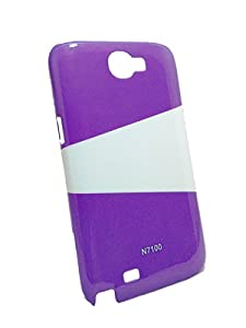 Iway Two Color High Glossy UV Hard Back Cover for Samsung Galaxy Note 2 N7100   Purple available at Amazon for Rs.89