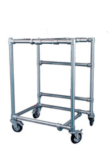 """Pilot Plant 6'X4'X4' On Locking Wheels (Made Of 1"""" Aviation Aluminum) Industrial Processing Station / Equipment Stand /Includes Color Code Easy Assemble Instruction, Allen Bolt Joints Lab Station. Brand New"""