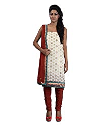 Mumtaz Sons Women's Cotton Unstitched Dress Material (MS111458,Maroon)