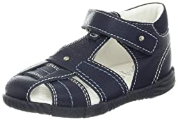Primigi Lars-E Sandal (Infant/Toddler),Blue Scurouro,19 EU(3-3.5 M US Infant)