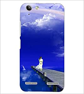 PrintDhaba Stranded Girl D-3286 Back Case Cover for LENOVO VIBE K5 (Multi-Coloured)