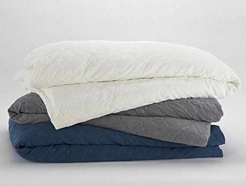 Coyuchi Organic Cotton Mache Full/Queen Duvet Cover - Slate
