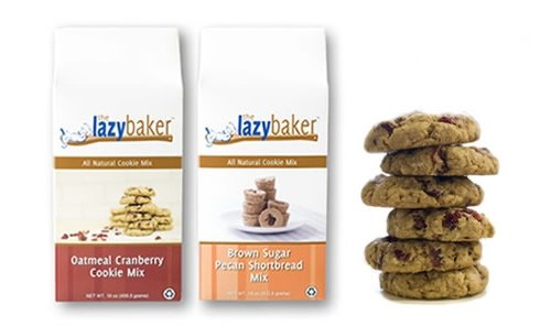 The Lazy Baker Variety Pack,( Brown Sugar Pecan Shortbread and Oatmeal Cranberry Cookie Mix)(Pack of 2)
