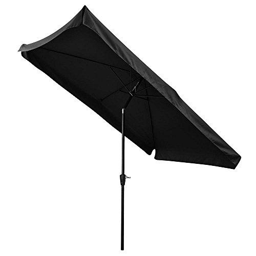 Inspirational ReaseJoy xm ux u Rib Aluminum Outdoor Patio Parasol Garden Umbrella with Tilt Crank for Cafe Black Features