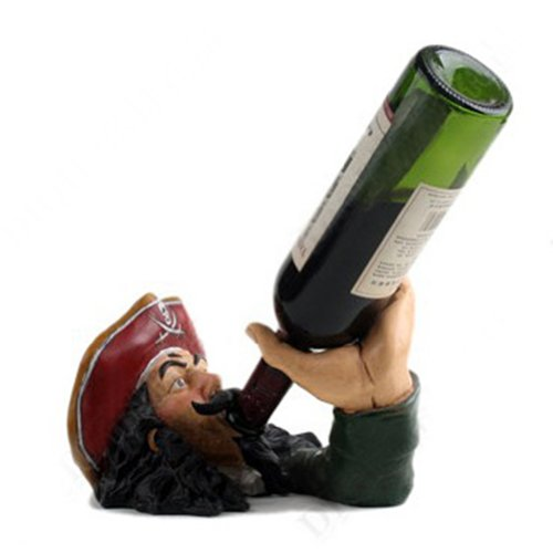 Pirate Captain Wine Bottle Holder, Decorative Wine Bottle Holder Rack, Christmas Gift