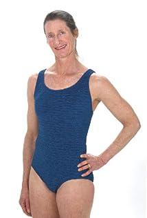 Penbrooke Women's Long Torso Krinkle Cross Back Swimsuit