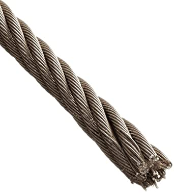 Loos Stainless Steel 18-8 Wire Rope, 7x7 Strand Core