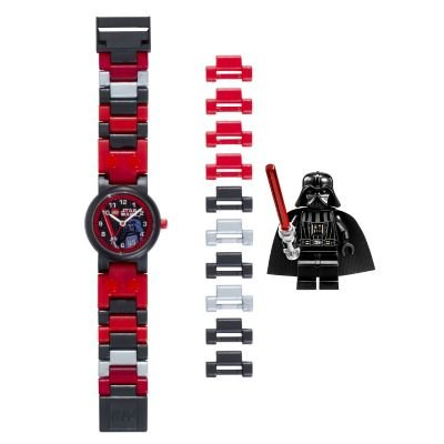 lego-kids-9002908-star-wars-darth-vader-plastic-watch-with-link-bracelet-and-mini-figure