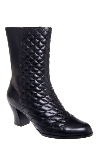 Everybody Cervo Quilted Retro Low Heel Mid Calf Boot