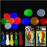 12-inch LED Light Up Balloon Party Wedding LED Flashing Inflatable Balloon Lamp - 20 pcs/set