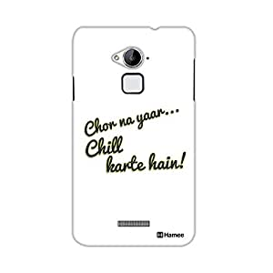 Customizable Hamee Original Designer Cover Thin Fit Crystal Clear Plastic Hard Back Case for Coolpad Note 3 / Cool Pad Note Three (chill)