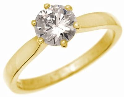 Exclusive 9 ct Gold Ladies Solitaire Engagement Diamond Ring Brilliant Cut 1.50 Carat KL-SI1