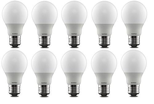 Wipro Garnet 5W E27 LED Bulb (Warm White, Pack Of 10) Image