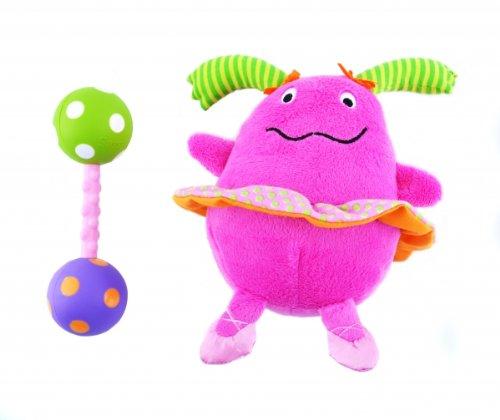Non-sters Sassy Ci-Ci plush rattle with bonus polka-dot rattle