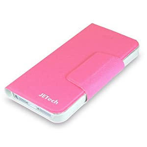JETech® Premium PU Leather Quality Wallet Case for Apple iPhone 5/5S (Pink)