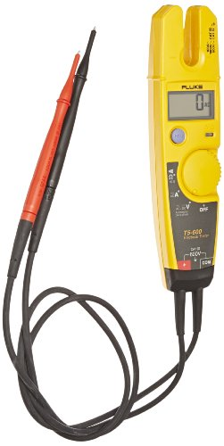 Fluke T5-600 Digital Usa Electric Tester With Openjaw, 2 Aa Battery, 1000 Ohms Resistance, 600V Ac/Dc Voltage, 100A Ac Current, 45 To 66 Hz Frequency